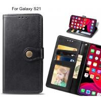 Galaxy S21 Case Premium Leather ID Wallet Case