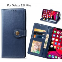 Galaxy S21 Ultra Case Premium Leather ID Wallet Case
