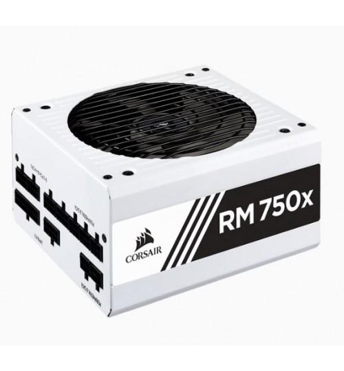 CORSAIR RMX SERIES RM750X FULLY MODULAR 80 PLUS GOLD POWER SUPPLY - 2018 VERSION - WHITE