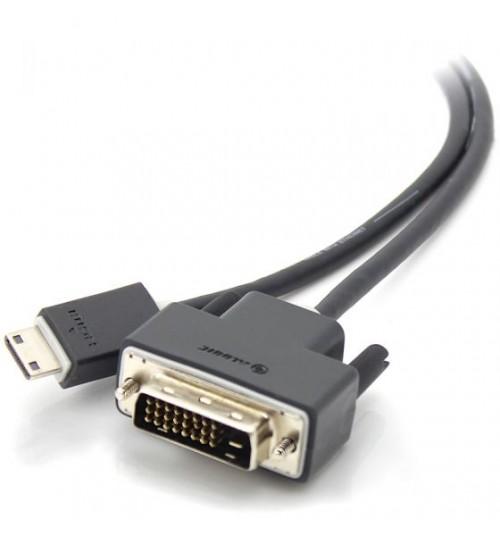 ALOGIC 3M MINI HDMI TO DVI CABLE MALE TO MALE