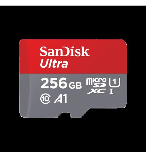 SANDISK ULTRA MICROSDXC SQUA4 256GB A1 C10 U1 UHS-I 120MB/S R 4X6 SD ADAPTOR 10Y