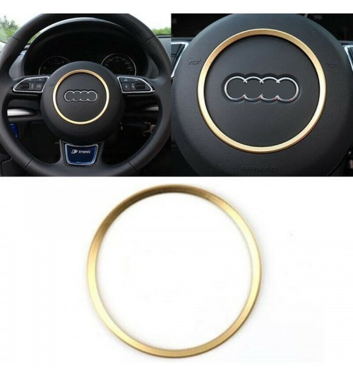 Audi Steering Wheel Center Decorations Ring Cover For A3 A4 Q3 Q5 A5 A6 A7