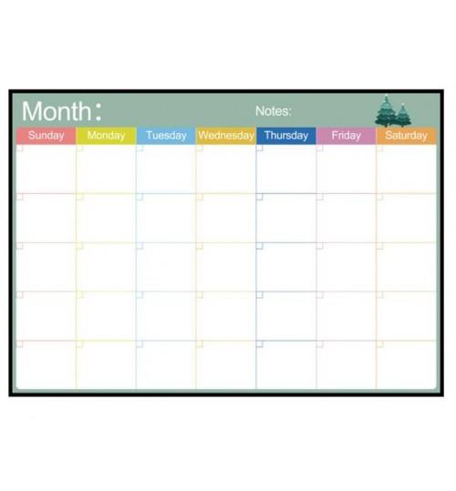 A3 Monthly Magnetic Calendar Fridge Dry Erase Planner Refrigerator Whiteboard