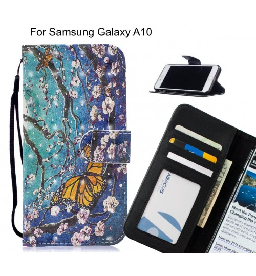 Samsung Galaxy A10 Case Leather Wallet Case 3D Pattern Printed