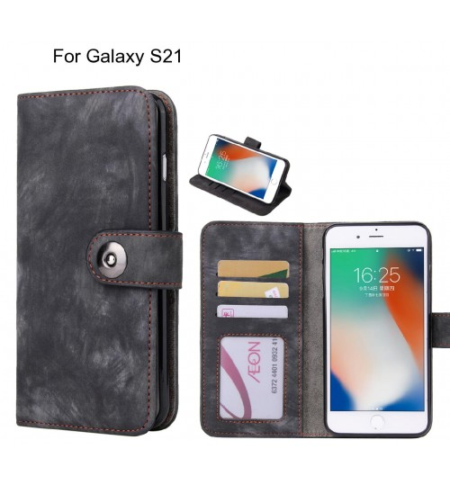 Galaxy S21 case retro leather wallet case