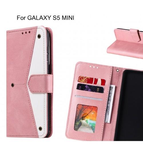 GALAXY S5 MINI Case Wallet Denim Leather Case Cover