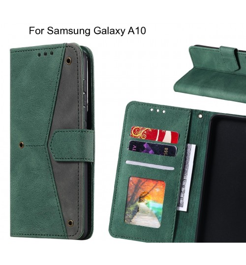 Samsung Galaxy A10 Case Wallet Denim Leather Case Cover