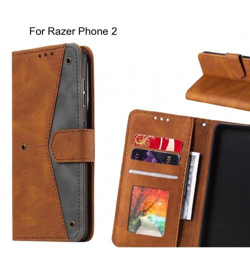 Razer Phone 2 Case Wallet Denim Leather Case Cover