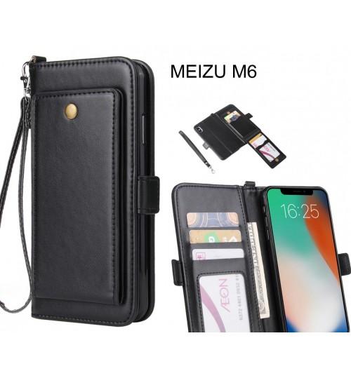 MEIZU M6 Case Retro Leather Wallet Case