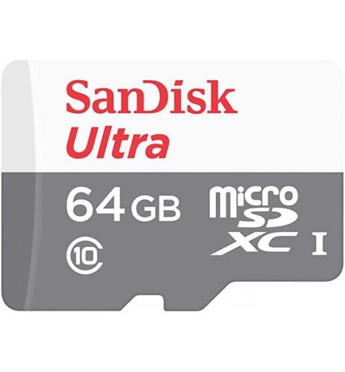 SanDisk Ultra microSDXC SQUNS 64GB C10 UHS-1 80MB/s R 3x5 7Y