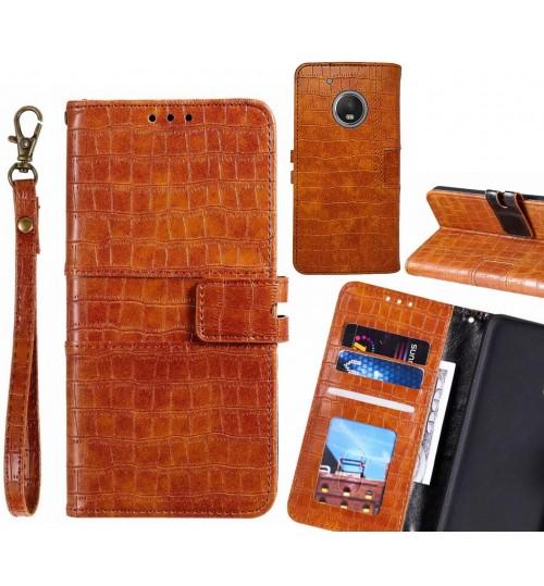 MOTO G5 PLUS case croco wallet Leather case