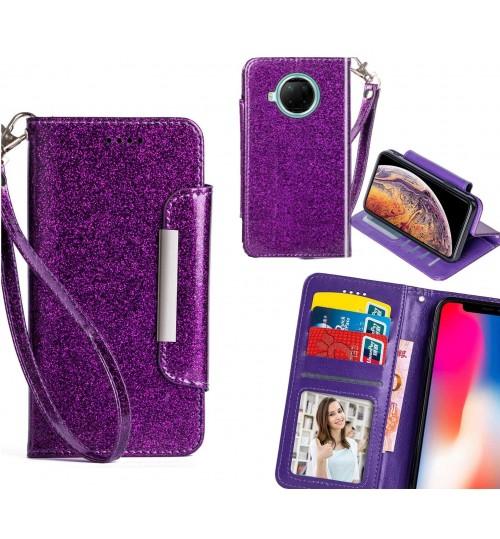 XiaoMi RedMi Note 9 Pro Case Glitter wallet Case ID wide Magnetic Closure