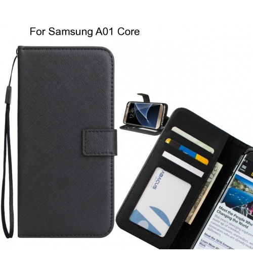 Samsung A01 Core Case Wallet Leather ID Card Case