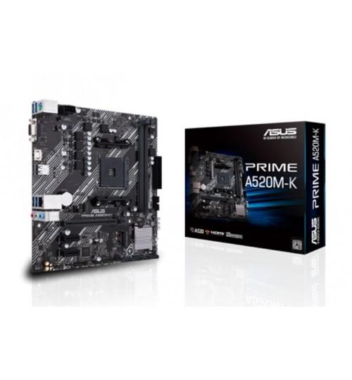 ASUS PRIME A520M-K AMD MICRO ATX M.2 HDMI D-SUB SATA 6 GBPS USB 3.2