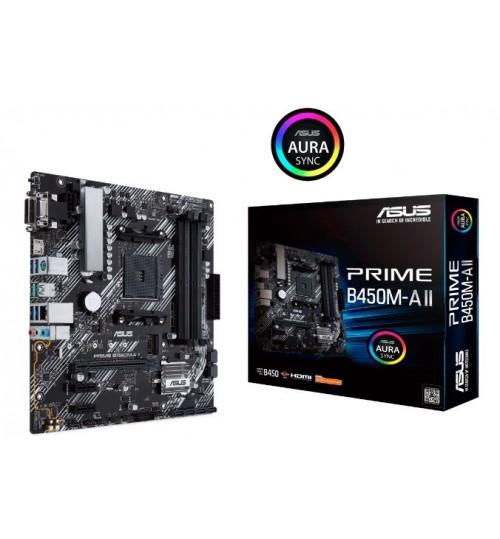 ASUS PRIME B450M-A II AMD MATX M.2 HDMI DVI-D D-SUB USB3.2 BIOS FLASHBACK