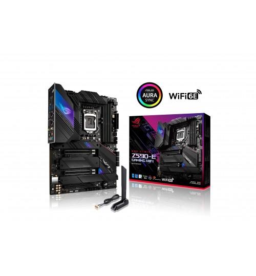 ASUS ROG STRIX Z590-E GAMING WIFI (LGA1200) ATX 4DDR4 PCI-E 4.0 M.2 USB3.2 SATA RGB LIGHTING HDMI DP