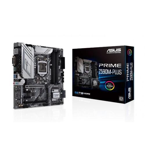 ASUS PRIME Z590M-PLUS (LGA 1200) MATX PCI-E 4.0 4xDIMM MAX 128GB DDR4 DP HDMI DVI USB3.2