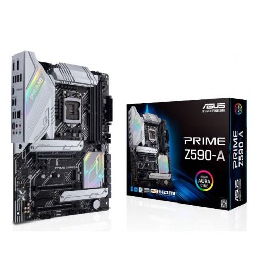 ASUS PRIME Z590-A (LGA 1200) ATX PCI-E 4.0 4xDIMM MAX 128GB DDR4  HDMI DP USB3.2 TYPE-C