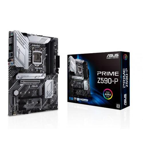 ASUS PRIME Z590-P (LGA 1200) ATX PCI-E 4.0 3xM.2 SLOTS HDMI DP USB3.2 TYPE-C
