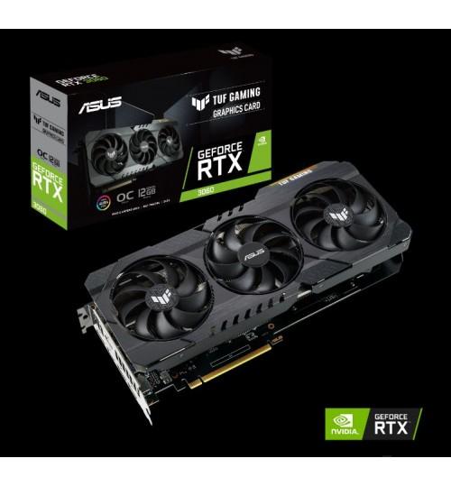 ASUS TUF-RTX3060-O12G-GAMING 12GB GDDR6 PCI-E4.0 192-BIT 2xHDMI 3xDP 2.7 SLOT