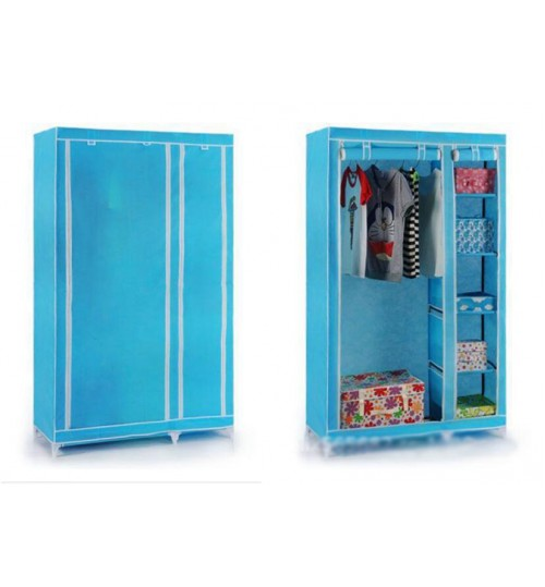 Portable Double Wardrobe Big Clothing Closet