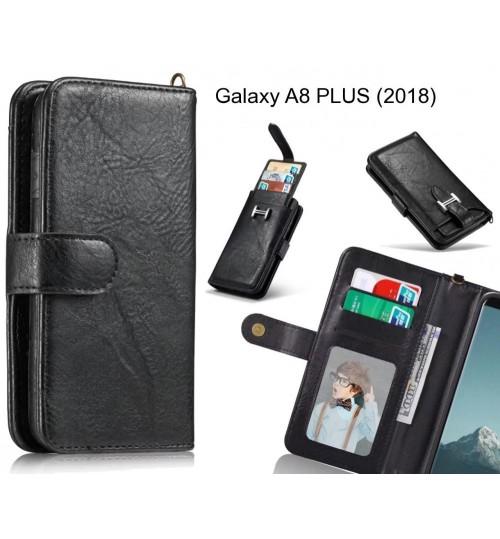Galaxy A8 PLUS (2018) Case Premium Multifunction Wallet Leather Case