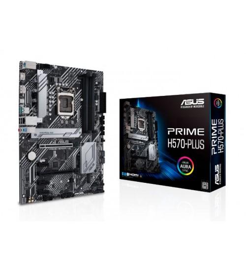 ASUS PRIME H570-PLUS (LGA1200) ATX DUAL M.2 1GB DP HDMI USB3.2 TYPE-C PCI-E 4.0 RGB LIHGTING