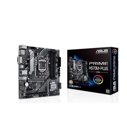 ASUS PRIME H570M-PLUS/CSM (LGA 1200) MICRO ATX PCI-E4.0 DP HDMI DVI SATA 6GB USB3.2 TYPE-C ACC LIFETIME LICENSE