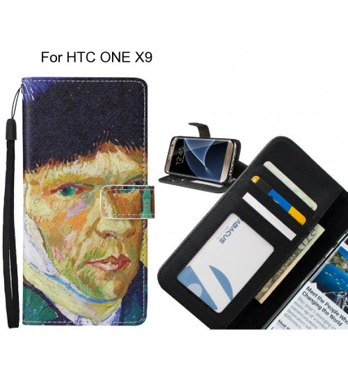 HTC ONE X9 case leather wallet case van gogh painting