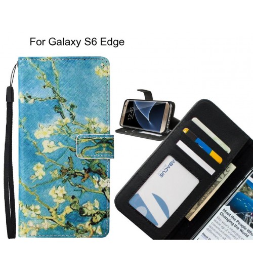 Galaxy S6 Edge case leather wallet case van gogh painting