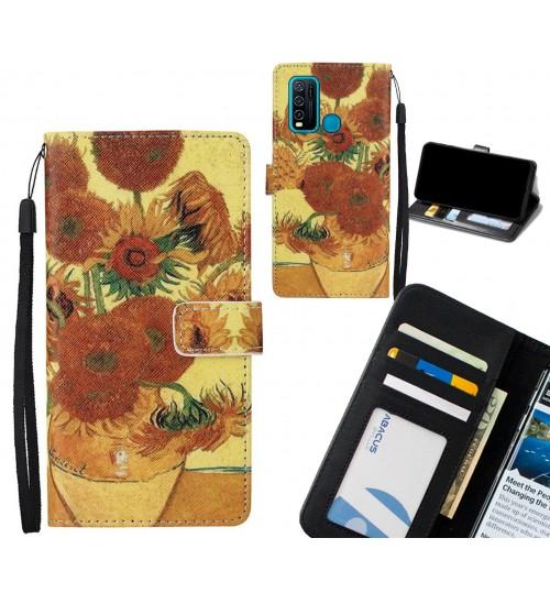 Vivo Y30 case leather wallet case van gogh painting