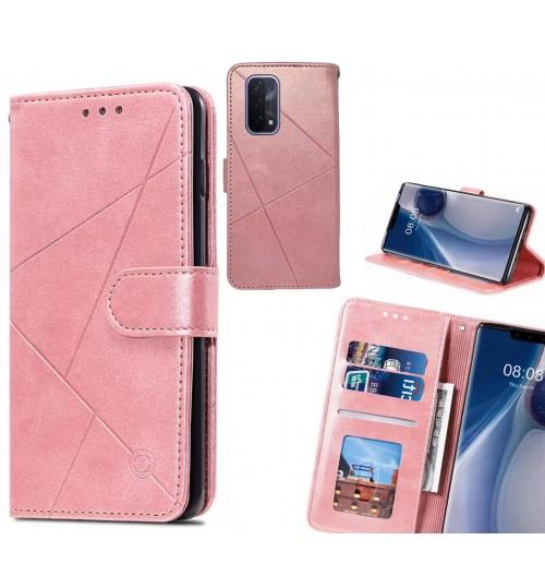 Oppo A54 5G Case Fine Leather Wallet Case