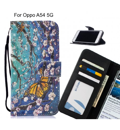 Oppo A54 5G Case Leather Wallet Case 3D Pattern Printed