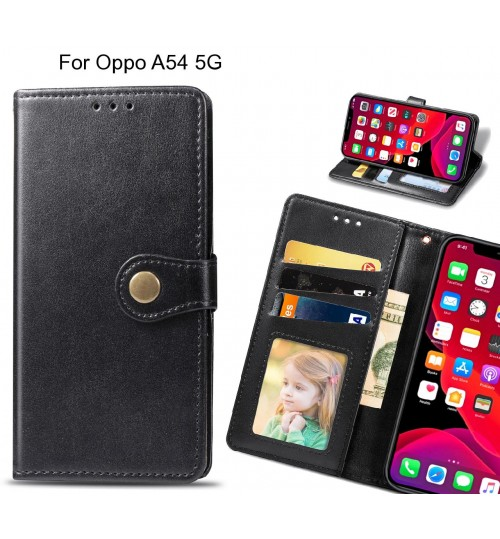 Oppo A54 5G Case Premium Leather ID Wallet Case