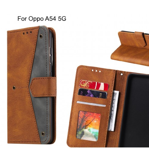 Oppo A54 5G Case Wallet Denim Leather Case Cover