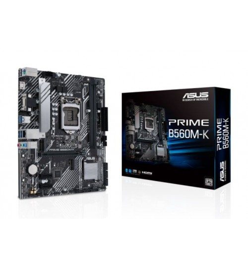 ASUS PRIME B560M-K (LGA 1200) mATX PCIE 4.0 2XM.2 SLOT 1XD-SUB HDMI MOTHERBOARD