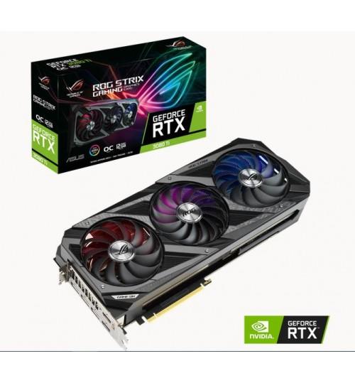 ASUS ROG-STRIX-RTX3080TI-O12G-GAMING 12GB GDDR6X 2XHDMI 3XDP 384-BIT PCI-E4.0 3XPIN 2.9 SLOT GAMING GRAPHIC CARD