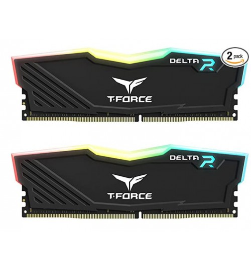 TEAM T-FORCEe DELTA RGB DDR4 32GB (2x16GB) 3200MHz CL16 GAMING MEMORY- BLACK