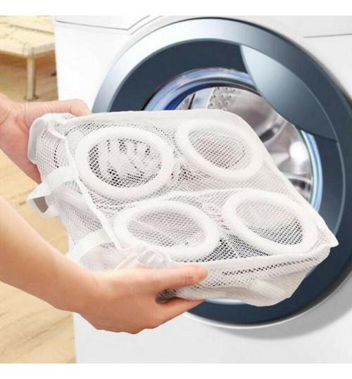 Sneaker Trainer Sports Shoe Washing Bag Laundry Protect Zipper Net Hanging