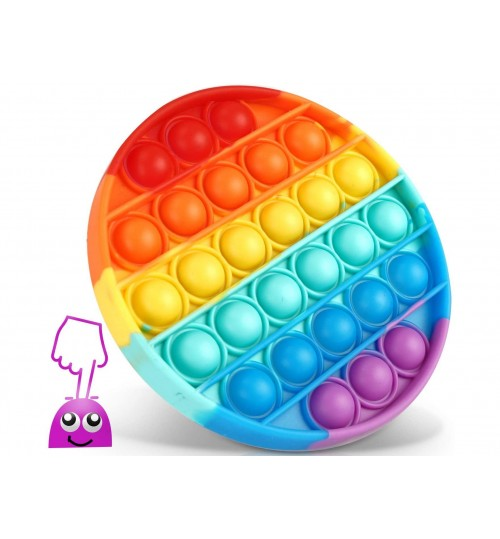 Fidget Toys Pop it - Rainbow CIRCLE 1pcs