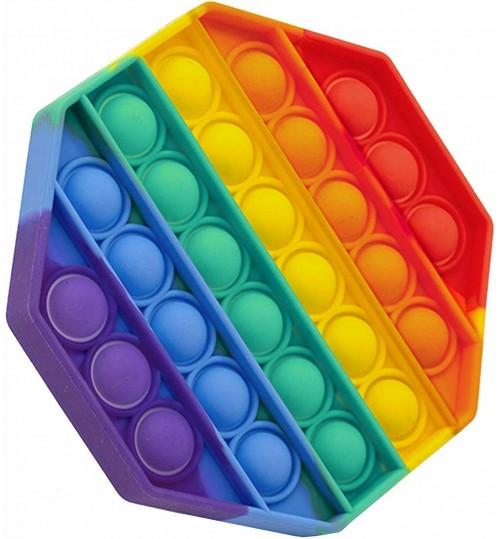 Fidget Toys Pop it - Rainbow Octagon