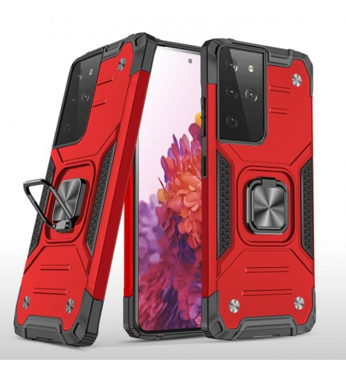 Sasumg S21 Ultra CASE Ring Stand Armor Rugged Case Cover