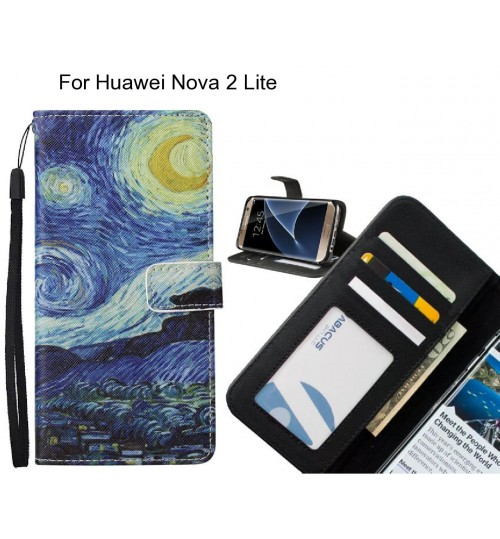 Huawei Nova 2 Lite case leather wallet case van gogh painting