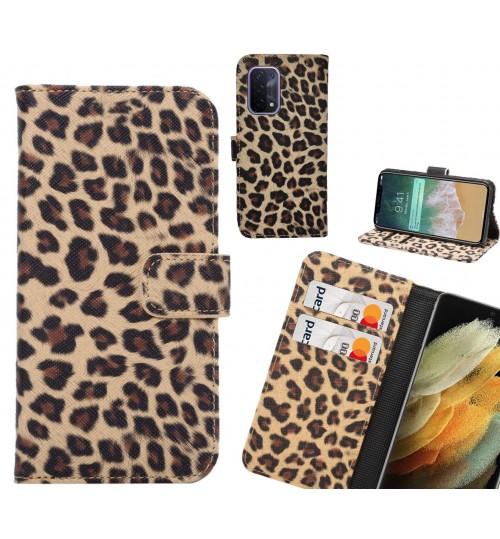 Oppo A54 5G Case  Leopard Leather Flip Wallet Case