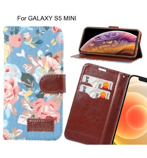GALAXY S5 MINI Case Floral Prints Wallet Case