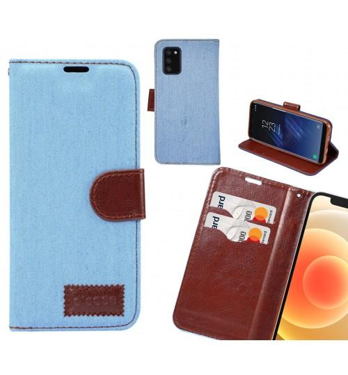 Samsung Galaxy A02S Case Wallet Case Denim Leather Case
