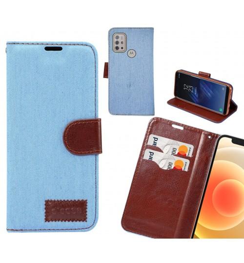 Moto G10 Case Wallet Case Denim Leather Case