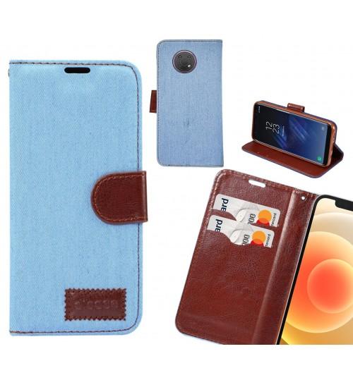 Nokia G10 Case Wallet Case Denim Leather Case
