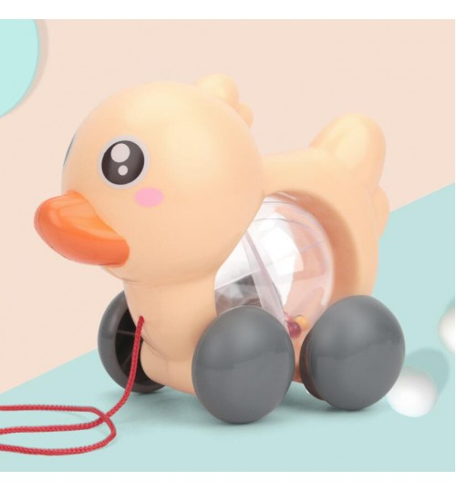 Pull Along Duck Toy Wheel
