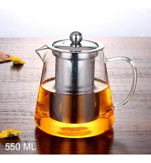 Glass Tea Pot Heat Resistant 550 ml